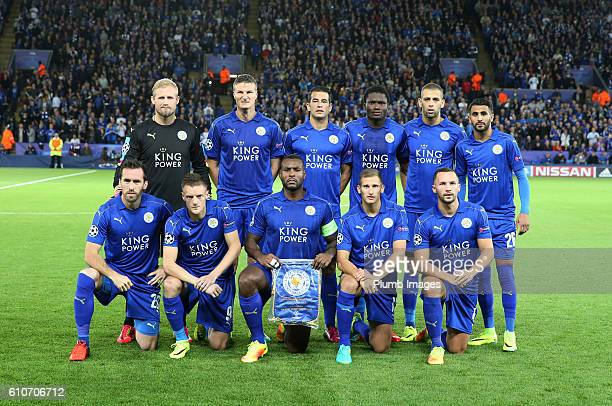 Leicester city team photo ahead of the Champions league tie between Leicester City and FC Porto at Leicester City Stadium on September 27 2016 in...