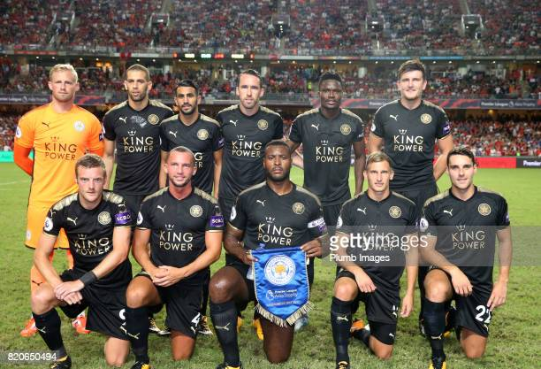 KONG JULY Leicester City team photo ahead of the Premier League Asia Trophy Final between Liverpool FC and Leicester City on July 22nd 2017 in So Kon...