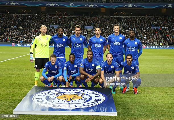 Leicester City team photo ahead of the UEFA Champions League match between FC Copenhagen and Leicester City at Telia Parken Stadium on November 02...