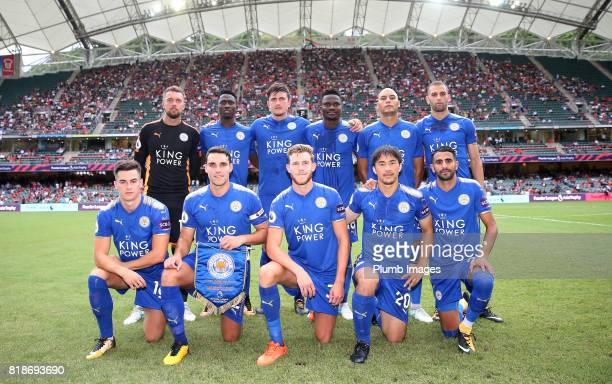 Leicester City team photo at Hong Kong Stadium ahead of the Premier League Asia Trophy on July 19th 2017 in So Kon Po Hong Kong