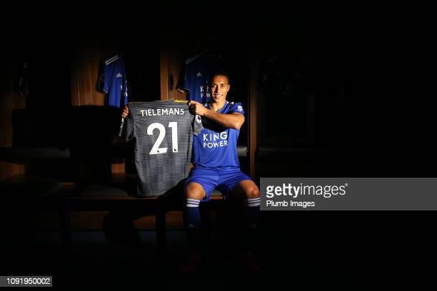 Leicester City unveil new loan signing Youri Tielemans at King Power Stadium on January 31st 2019 in Leicester United Kingdom