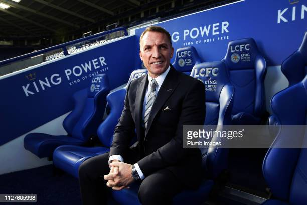 Leicester City unveil new manager Brendan Rodgers at King Power Stadium on February 26, 2019 in Leicester, United Kingdom.