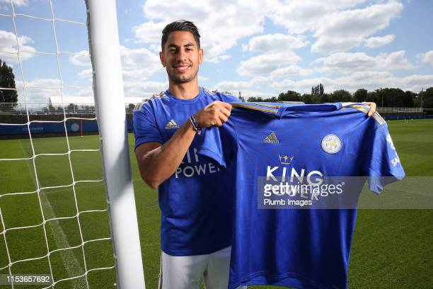 Leicester City unveil new signing Ayoze Perez at Belvoir Drive Training Complex on July 04 2019 in Leicester United Kingdom