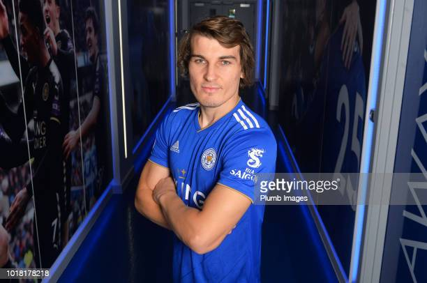 Leicester City Unveil New Signing Caglar Soyuncu at King Power Stadium on August 17 2018 in Leicester United Kingdom