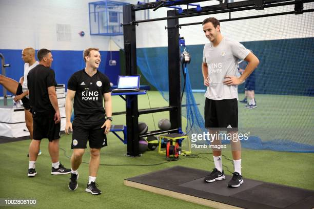 Leicester City unveil new signing Danny Ward at Belvoir Drive Training Complex on July 20 2018 in Leicester United Kingdom