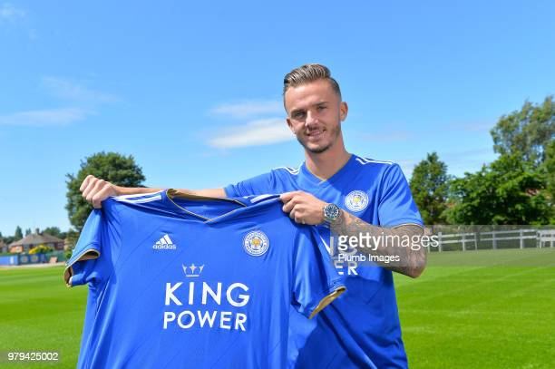 Leicester City unveil new signing James Maddison at Belvoir Drive Training Complex on June 18 2018 in Leicester United Kingdom