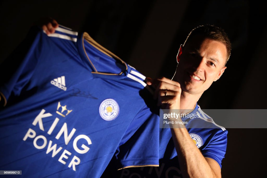 Leicester City Unveil New Signing Jonny Evans... : News Photo