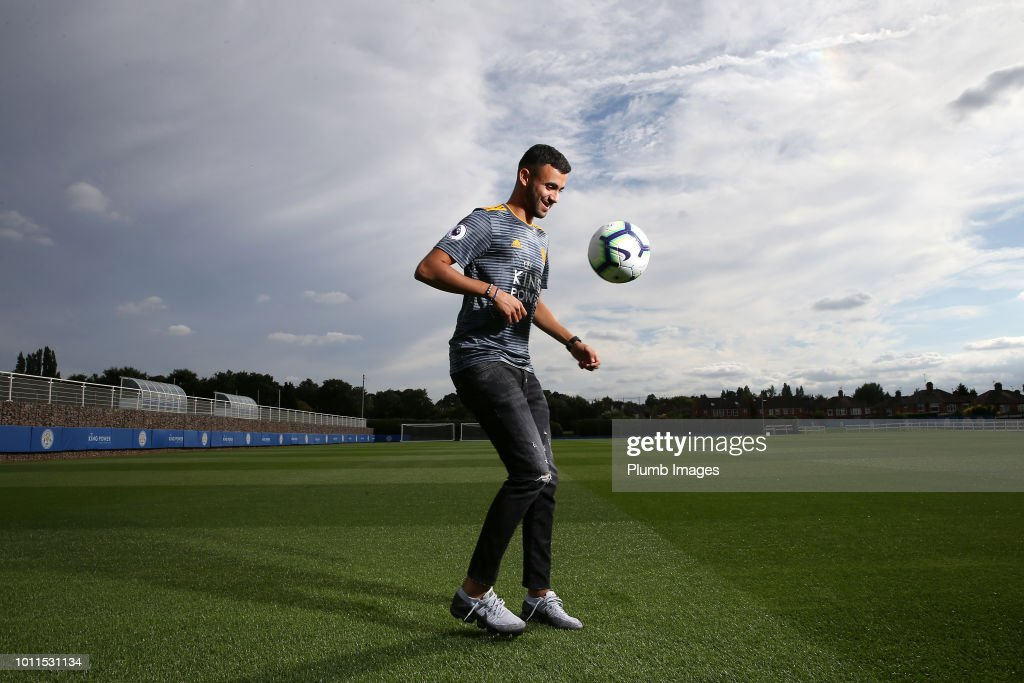 Leicester City unveil new signing Rachid Ghezzal at Belvoir Drive Training Complex on August 03, 2018 in Leicester, United Kingdom.