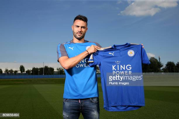Leicester City Unveil New Signing Vicente Iborra at Belvoir Drive Training Complex on July 06 2017 in Leicester United Kingdom