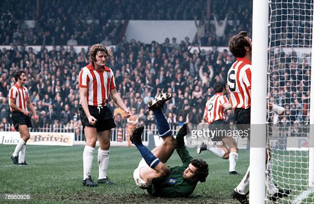 Leicester City v Sheffield United Leicester City's goalkeeper Peter Shilton makes a miraculous save as Sheffield's Bone shows his frustration