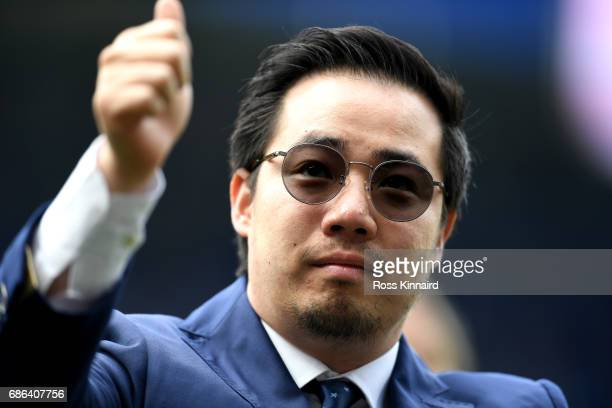 Leicester City Vice Chairman Aiyawatt Srivaddhanaprabha during the Premier League match between Leicester City and AFC Bournemouth at The King Power...