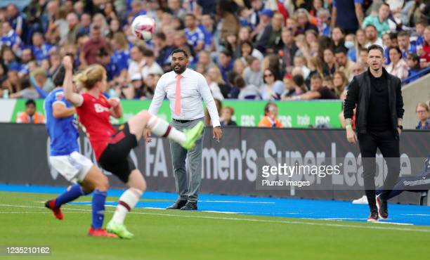 Leicester City Women 1st Team Manager Jonathan Morgan during the Barclays FA Women's Super League match between Leicester City Women and Manchester...