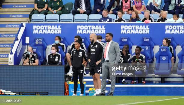 Leicester City Women 1st Team Manager Jonathan Morgan, Tony O'Neil Goal keeper coach of Leicester City Women and Leicester City Women coach Holly...