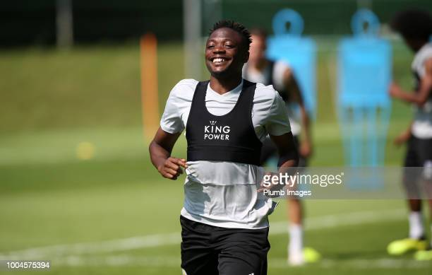 Leicester City's Ahmed Musa during the Leicester City PreSeason tour of Austria at Velden Training Facility on July 24th 2018 in Velden Austria