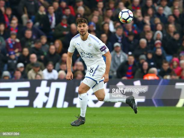Leicester City's Aleksandar Dragovic during the Premiership League match between Crystal Palace and Leicester City at Selhurst Park London England on...