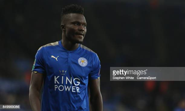 Leicester City's Daniel Amartey during the Carabao Cup Third Round match between Leicester City and Liverpool at The King Power Stadium on September...