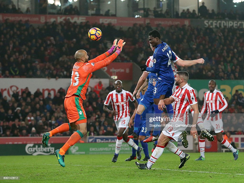 Leicester City's Daniel Amartey scores his sides second goal heading...  News Photo - Getty Images