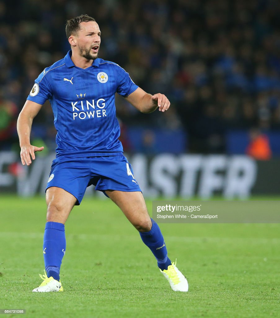 Leicester City's Daniel Drinkwater during the Premier League match between Leicester City and Sunderland at The King Power Stadium on April 4, 2017 in Leicester, England.