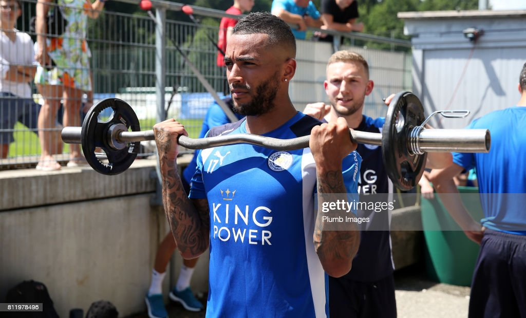 Leicester City's Danny Simpson during the Leicester City Pre-Season tour of Austria at Velden Training Facility on July 10th , 2017 in Velden, Austria.