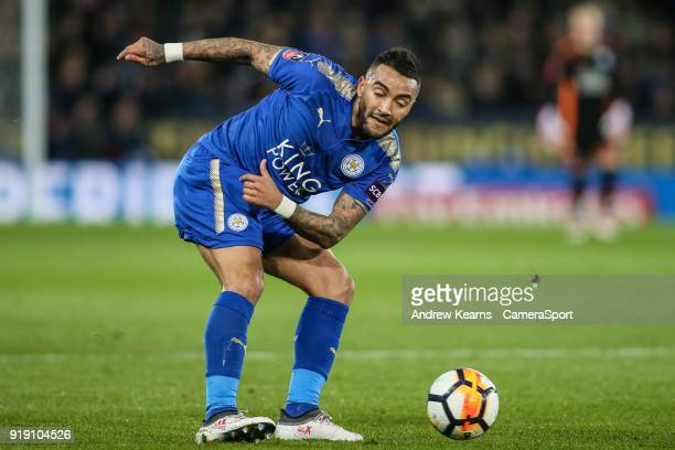 Leicester City's Danny Simpson on the ball during the The Emirates FA Cup Fifth Round match between Leicester City and Sheffield United at The King...