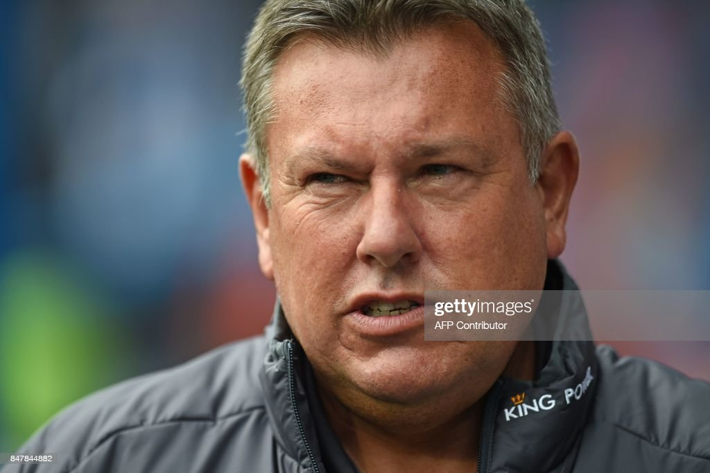 Leicester City's English manager Craig Shakespeare arrives for the English Premier League football match between Huddersfield Town and Leicester City at the John Smith's stadium in Huddersfield, northern England on September 16, 2017. / AFP PHOTO / Oli SCARFF / RESTRICTED TO EDITORIAL USE. No use with unauthorized audio, video, data, fixture lists, club/league logos or 'live' services. Online in-match use limited to 75 images, no video emulation. No use in betting, games or single club/league/player publications. /