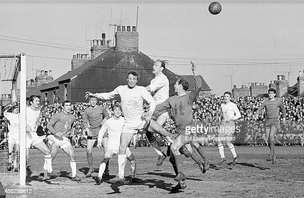 Leicester City's Graham Cross and Andy Lochhead defend a corner kick at the near post during their FA Cup 6th round match with Mansfield Football...