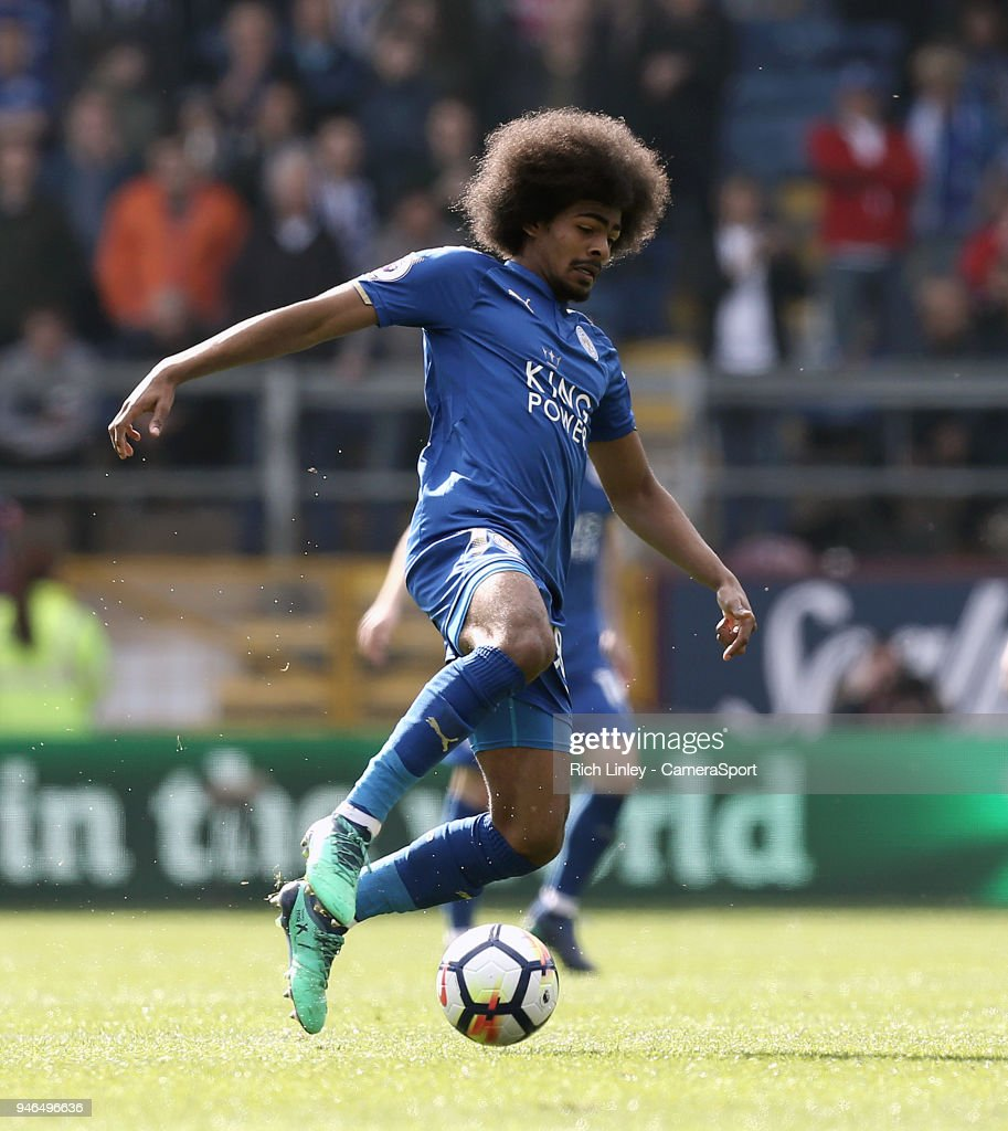 Leicester City's Hamza Choudhury during the Premier League match between Burnley and Leicester City at Turf Moor on April 14, 2018 in Burnley, England.