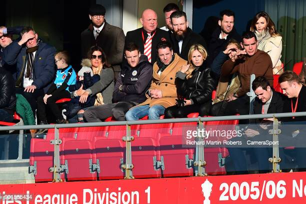 Leicester City's Jamie Vardy looks on from the stands during the Emirates FA Cup Third Round match between Fleetwood Town and Leicester City at...