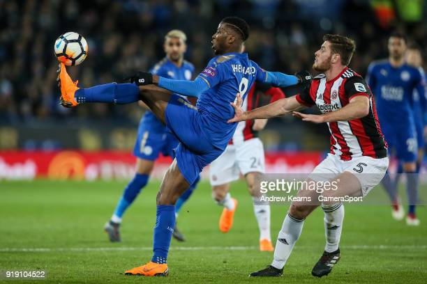 Leicester City's Kelechi Iheanacho controls the ball under pressure from Sheffield United's Jack O'Connell during the The Emirates FA Cup Fifth Round...