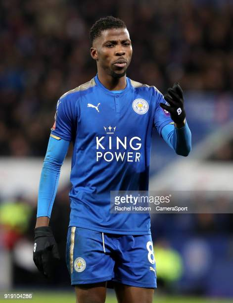 Leicester City's Kelechi Iheanacho during the The Emirates FA Cup Fifth Round match between Leicester City and Sheffield United at The King Power...