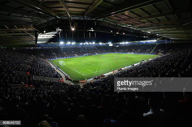 Leicester City's King Power Stadium during the Barclays Premier League match between Leicester City and Liverpool at the King Power Stadium on...