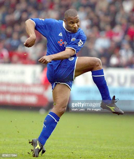 Leicester City's Les Ferdinand scores his sides 2nd and equalizing goal against Charlton Athletic during the Barclaycard Premiership match at the...