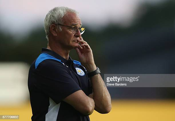 Leicester City's manager Claudio Ranieri looks on during the preseason friendly between Oxford City and Leicester City at Kassam Stadium on July 19...