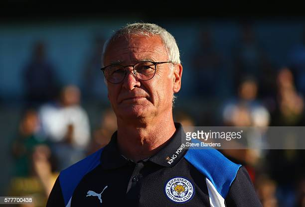 Leicester City's manager Claudio Ranieri looks on prior to the preseason friendly between Oxford City and Leicester City at Kassam Stadium on July 19...