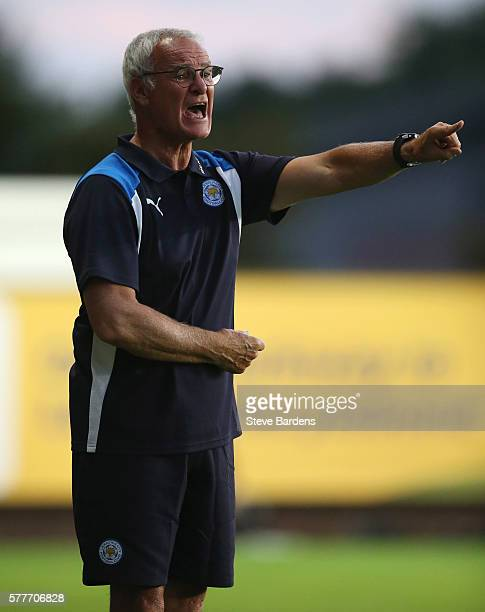 Leicester City's manager Claudio Ranieri shouts instructions during the preseason friendly between Oxford City and Leicester City at Kassam Stadium...
