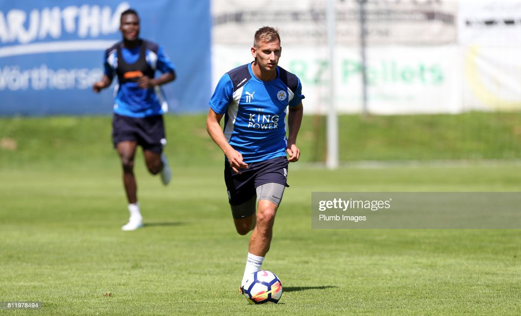 Leicester City's Marc Albrighton during the Leicester City Pre-Season tour of Austria at Velden Training Facility on July 10th , 2017 in Velden, Austria.