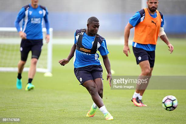 Leicester City's Nampalys Mendy during the Leicester City training session at Belvoir Drive Training Complex on August 18 2016 in Leicester United...