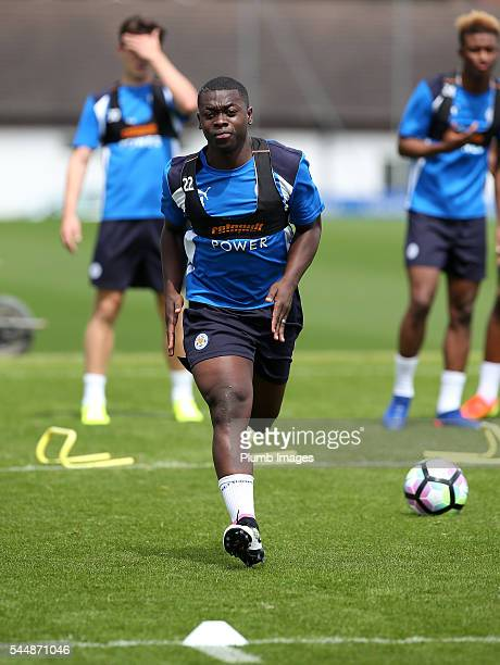Leicester City's new signing Nampalys Mendy during the training session at Belvoir Drive Training Complex on July 04 , 2016 in Leicester, United...