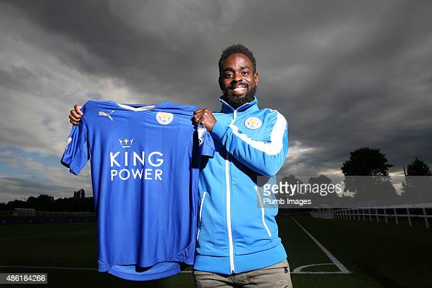 Leicester City's new signing Nathan Dyer is unveiled at the Belvoir Drive Training Complex on September 01, 2015 in Leicester, United Kingdom.