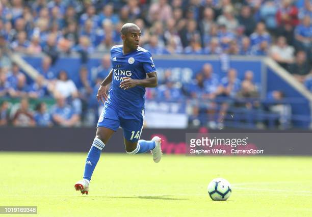 Leicester City's Ricardo Pereira during the Premier League match between Leicester City and Wolverhampton Wanderers at The King Power Stadium on...