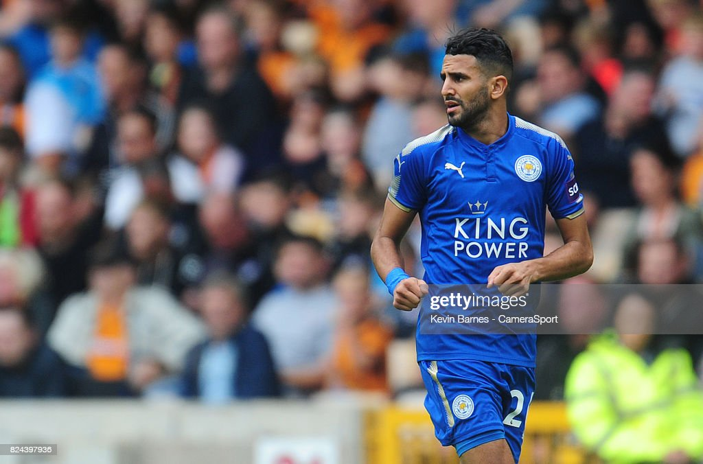 Leicester Citys Riyad Mahrez during the pre-season friendly match between Wolverhampton Wanderers and Leicester City at Molineux on July 29, 2017 in Wolverhampton, England.