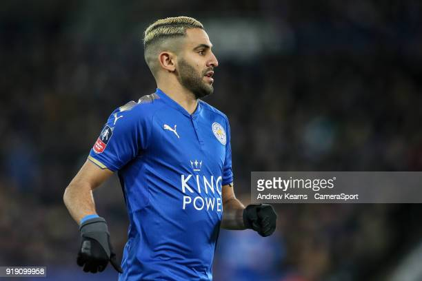 Leicester City's Riyad Mahrez during the The Emirates FA Cup Fifth Round match between Leicester City and Sheffield United at The King Power Stadium...