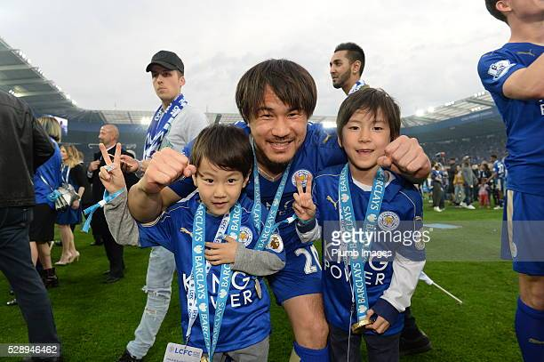 Leicester City's Shiniji Okazaki after the Barclays Premier League match between Leicester City and Everton at the King Power Stadium on May 7 2016...