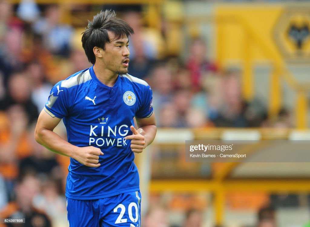Leicester Citys Shinji Okazaki during the pre-season friendly match between Wolverhampton Wanderers and Leicester City at Molineux on July 29, 2017 in Wolverhampton, England.