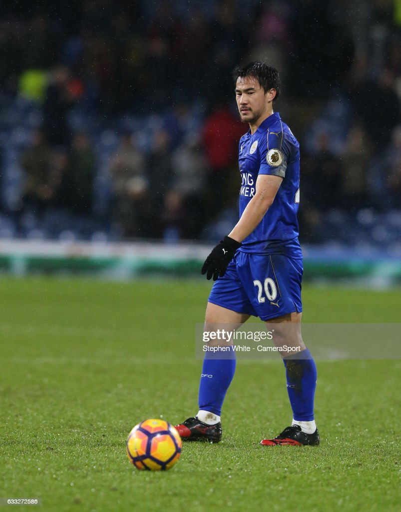 Leicester City's Shinji Okazaki looks dejected at his sides 1-0 defeat at the final whistle during the Premier League match between Burnley and Leicester City at Turf Moor on January 31, 2017 in Burnley, England.