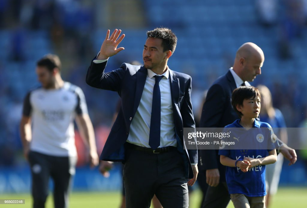 Leicester City's Shinji Okazaki thanks the fans after the final whistle of the Premier League match at the King Power Stadium, Leicester.