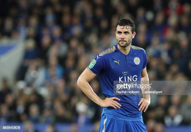 Leicester City's Vicente Iborra during the Carabao Cup Fourth Round match between Leicester City and Leeds United at The King Power Stadium on...