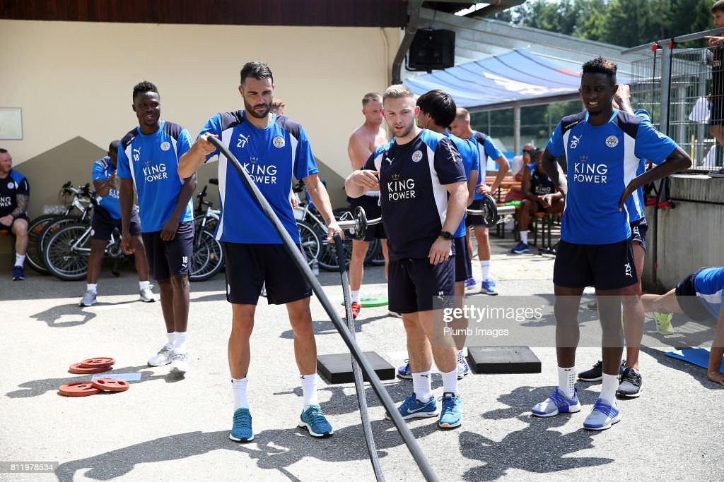 Leicester City's Vicente Iborra during the Leicester City Pre-Season tour of Austria at Velden Training Facility on July 10th , 2017 in Velden, Austria.