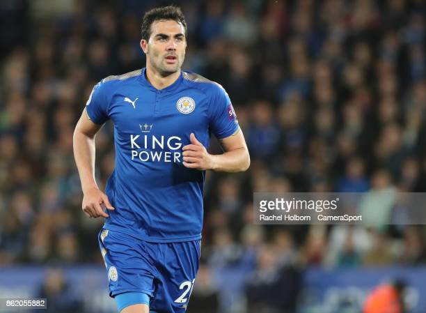 Leicester City's Vicente Iborra during the Premier League match between Leicester City and West Bromwich Albion at The King Power Stadium on October...