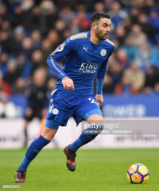 Leicester City's Vicente Iborra during the Premier League match between Leicester City and Crystal Palace at The King Power Stadium on December 16...